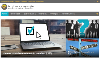 Page d'accueil site web blog.questio.fr