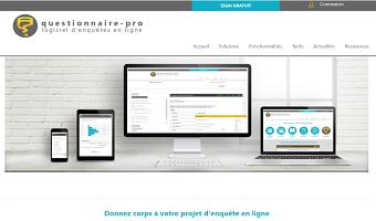 Page d'accueil site web questionnaire-pro.fr