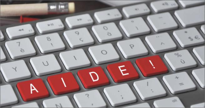 Illustration du concept d'aide en ligne