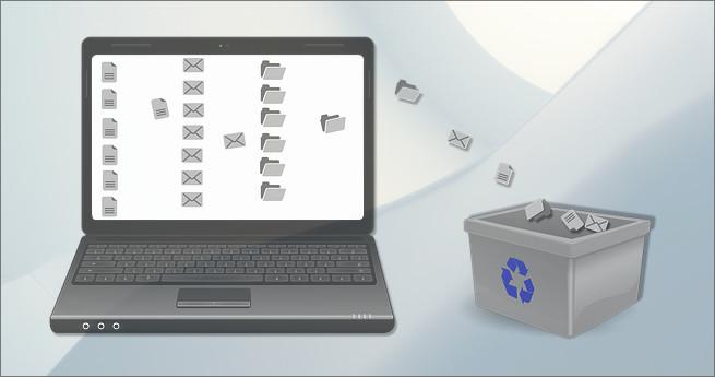 Illustration de la supression de données et fichiers informatiques
